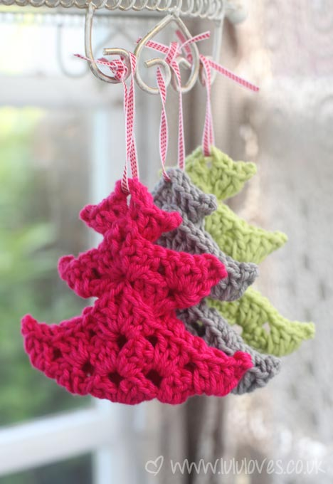 Crochet Christmas Trees - Lululoves