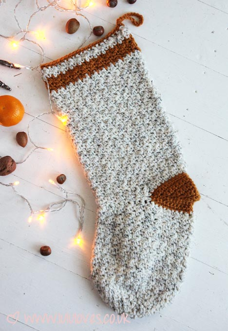 Lululoves crochet christmas stocking