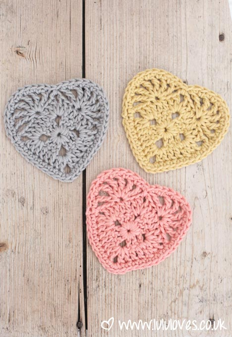 LuluLoves - Crochet Granny Hearts