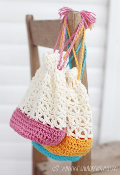 Lululoves Crochet Lacy Bags