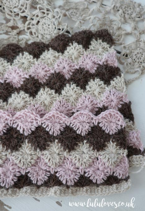Lululoves | Crochet Catherine Wheel Stitch