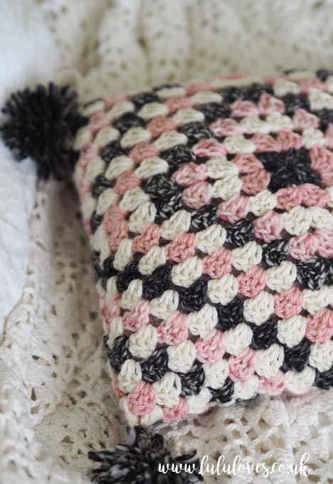 Crochet Granny Square Cushion | Lululoves Blog