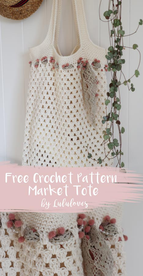 Free Crochet Pattern - Market Tote Bag | Lululoves Crochet