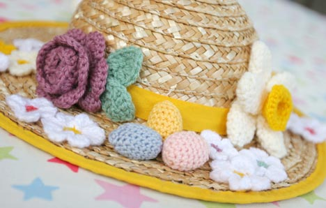 Crochet Easter Bonnet - Lululoves