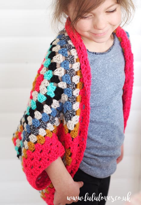 Lululoves - Crochet Granny Square Shrug