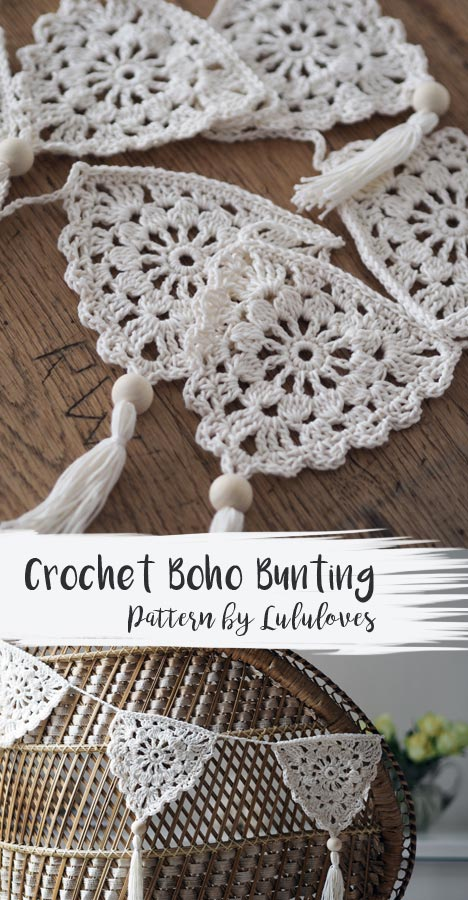 Crochet Boho Bunting | Lululoves Blog #crochetbunting