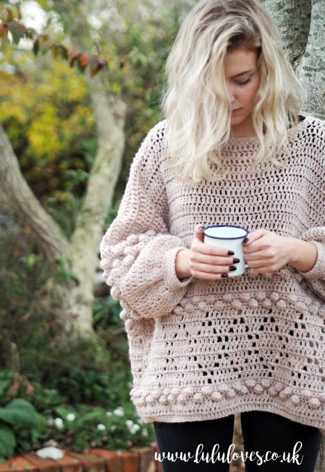 Lululoves: Diamonds and Bobbles Crochet Jumper