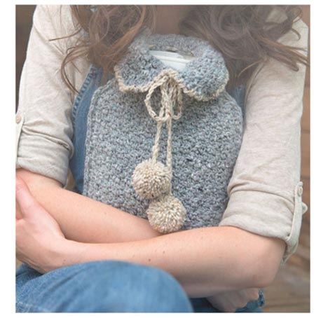 Crochet Hot Water Bottle Cosy - Simply Crochet
