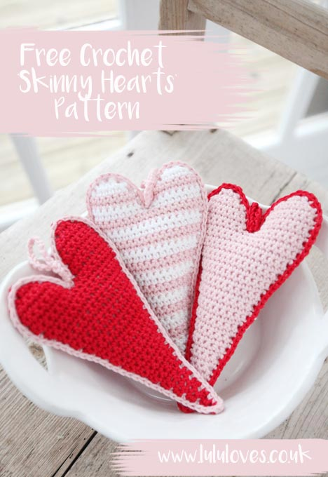 Free Crochet Heart Pattern | Lululoves Blog