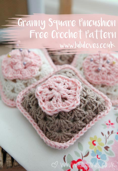 Crochet Granny Square Pincushion Free Pattern | Lululoves Blog