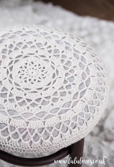 Crochet Stool Cover | Lululoves Crochet Blog