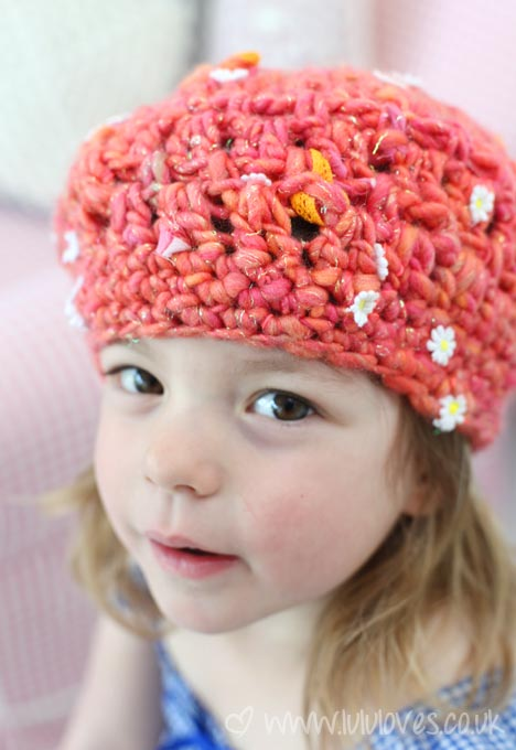 Lululoves Crochet Hat - using Knit Collage yarn