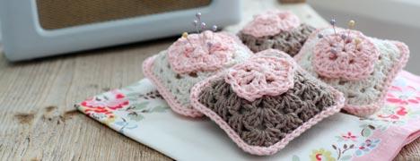 Crochet Pattern - Granny Square Pincushion