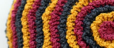 Crochet Pattern - Round Ruffle Cushion