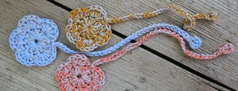 Crochet - Flower Bookmark Pattern